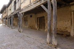 Arcade, Calatañazor, Soria province, Casitlla y León, Spain. Detail of the arcade of Calatañazor, Soria province, Casitlla y León, Spain Stock Photos