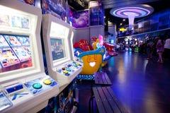 Arcade center stock photos
