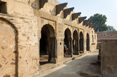 Arcade of Chand Baori Stepwell in Jaipur Stock Photos
