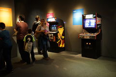 Arcade Classics Exhibition 13. Arcade Classics features more than 30 video arcade games released between 1972 and 1993, drawn from the Museum's collection. All Royalty Free Stock Image