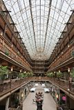 The Arcade, Cleveland. CLEVELAND, USA - JUNE 29, 2013: Architecture of The Arcade in Cleveland. The Victorian-era structure is a U.S. National Historic Landmark Stock Photo