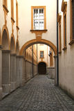 Arcade in cloister Melk. Long arcade in cloister Melk Royalty Free Stock Image