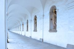 Arcade of colonnade in flower garden of Kromeriz 2. Arcade of colonnade in flower garden of Kromeriz in the Czech Republic Royalty Free Stock Photo