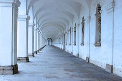 Arcade of colonnade in flower garden of Kromeriz 1. Arcade of colonnade in flower garden of Kromeriz in the Czech Republic Stock Images