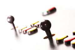 Arcade controls. Joysticks and buttons Stock Image