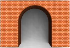 Arcade de brique rouge Image stock