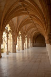 Arcade de cloître de monastère de Jeronimos Photographie stock