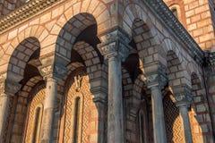 Arcade de l'église de St Mark Image stock