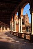 Arcade de palais sur le grand dos du `s de l'Espagne Photos stock