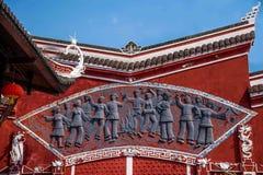 Arcade de ville de Hubei Enshi Photographie stock libre de droits