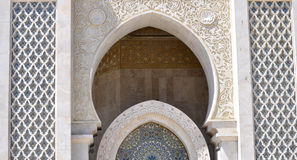 Arcade design of Hassan II Mosque,Casablanca Stock Photo