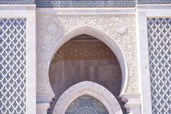 Arcade design of HassanII Mosque ,Casablanca Stock Image