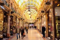 Arcade du comté, Leeds Image libre de droits