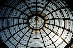 Arcade en verre de Milan Images stock