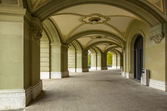 Arcade of Federal Palace of Switzerland in the Bern. Outdoor photo Royalty Free Stock Photography