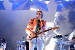 Arcade Fire (banda rock indipendente) esegue al suono 2014 di Heineken Primavera Immagini Stock Libere da Diritti