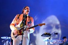 Arcade Fire (groupe de rock indépendant) exécute au bruit 2014 de Heineken Primavera Photographie stock libre de droits