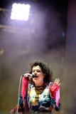Arcade Fire (grupo de rock indie) executa no festival 2014 do som de Heineken primavera Imagens de Stock Royalty Free