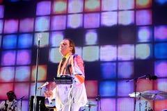 Arcade Fire (indie rock band) performs at Heineken Primavera Sound 2014 Festival Stock Photography
