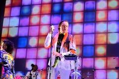 Arcade Fire (indie Rockband) führt an Ton-Festival 2014 Heinekens Primavera durch Lizenzfreie Stockfotos