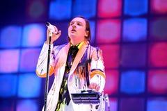 Arcade Fire (indie Rockband) führt an Ton-Festival 2014 Heinekens Primavera durch Stockfotos