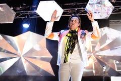 Arcade Fire (indie Rockband) führt an Ton-Festival 2014 Heinekens Primavera durch Stockfoto