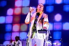 Arcade Fire (indie Rockband) führt an Ton-Festival 2014 Heinekens Primavera durch Stockbild