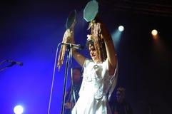 Arcade Fire - Regine Chassagne. Rio de Janeiro, April 4, 2014 Royalty Free Stock Image