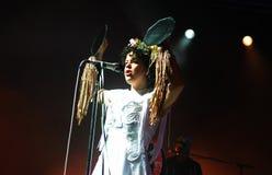 Arcade Fire - Regine Chassagne. Rio de Janeiro, April 4, 2014 Stock Photo