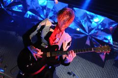 Arcade Fire -  Richard Reed Parry. Rio de Janeiro, April 4, 2014 Royalty Free Stock Image