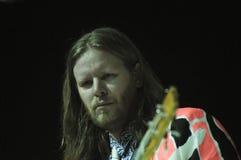 Arcade Fire - Tim Kingsbury. Rio de Janeiro, April 4, 2014 Stock Photography