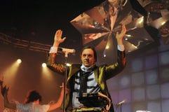 Arcade Fire - Win Butler. Rio de Janeiro, April 4, 2014 Royalty Free Stock Photo
