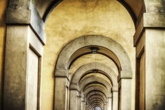 Arcade in Florence in hdr. Italy Royalty Free Stock Image