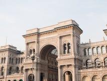 arcade galleria ΙΙ του Emanuele vittorio της Ιταλία&sigma Στοκ Εικόνες
