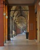 Arcade and gallery in Bologna (Italy). Stock Photos