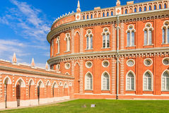 Arcade gallery-fence with an arch. Bread House. Museum-Reserve Tsaritsyno. Stock Photos