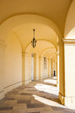 Arcade gallery of Schoenbrunn palace in Vienna Stock Photos