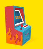 Arcade game Machine. Vintage Arcade game Machine. Vector illustration royalty free illustration