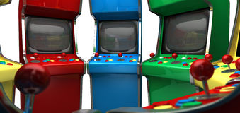 Arcade Game Machines rad Royaltyfri Bild