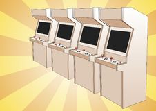 Arcade game machines Stock Photo