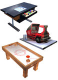 Arcade game set Stock Images