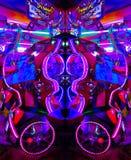 Arcade Game ultravioletto alla luce psichedelica fotografia stock