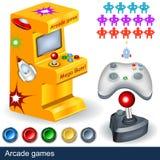 Arcade games. Illustration collection stock illustration