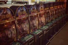 Arcade games retro. Video games in arcade Royalty Free Stock Image