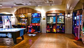 Arcade. And gaming room at the Turning Stone Casino in Verona , New York Royalty Free Stock Photo