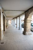 Arcade at hervas village. In caceres spain Stock Photography