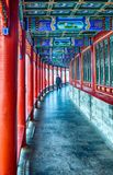 Faded glory dome arcade in Beihai. The arcade inside the emperor garden in Beihai Stock Photography