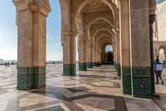 Arcade with islamic decoration Stock Photos