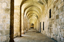 Arcade in Jerusalem. Arcade in Jerusalem City Stock Photo