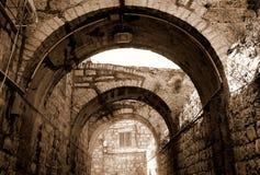 Arcade in Jeruzalem Royalty-vrije Stock Foto's